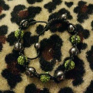 Jewelry - Black and green bracelet